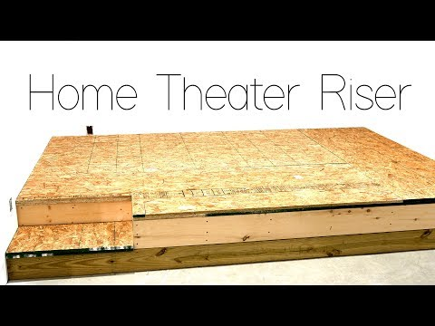 DIY Home Theater Seating Riser Construction 🍿