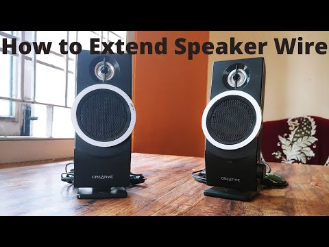 How to Extend Speaker wire | Speaker wire to RCA