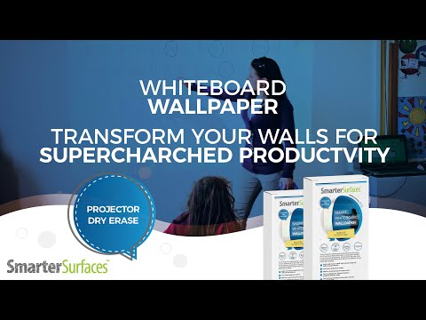 Whiteboard Projector Screen for Exponential Productivity | Smarter Surfaces Product Review