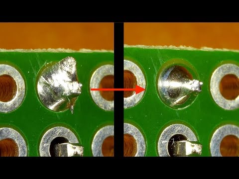 How to repair cold solder joint