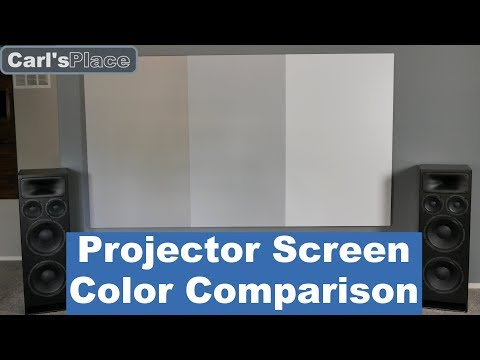Projector Screen Color Comparison | Carl's Place DIY Home Theater Projector Screens