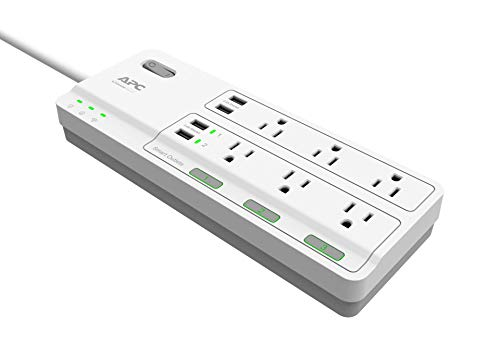 APC 6-Outlet Smart Power Strip with Surge Protection