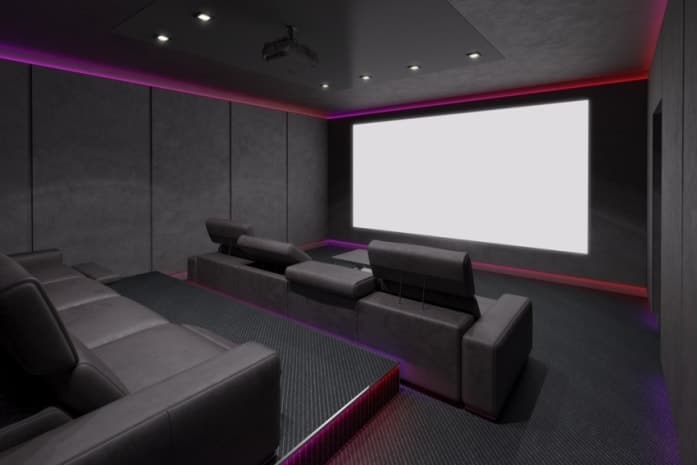 Dedicated Home Cinema Seating Arrangement