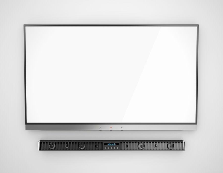 Soundbar Below a TV