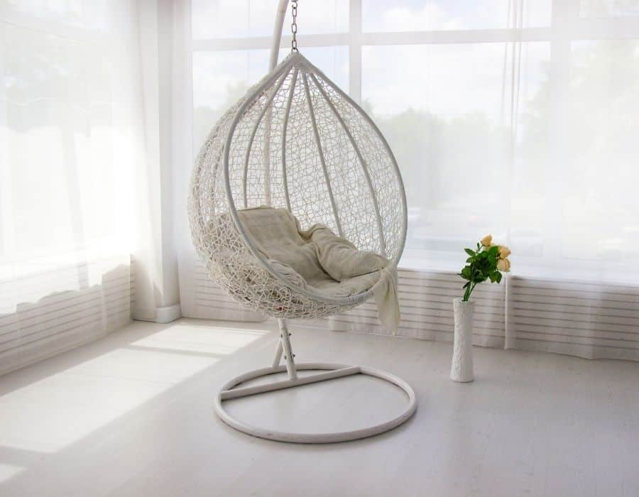 Couch with Swing or Hanging Chairs