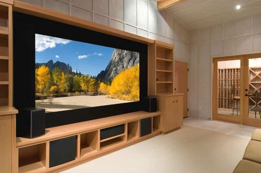 Custom Cabinets for Extra Storage home theater