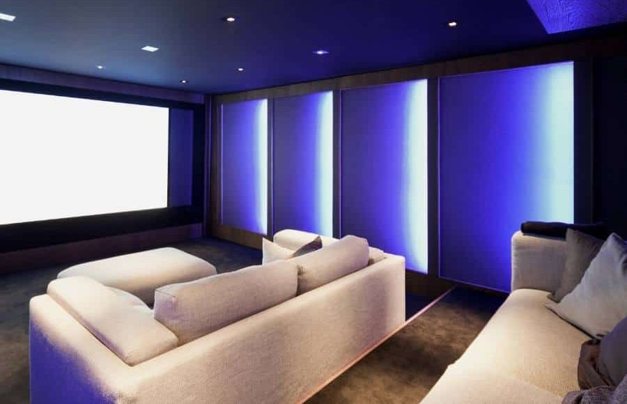 Two Rows with Aisle home theater room layout