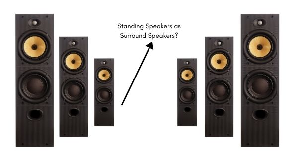 Can You Use Floor Standing Speakers as Surround Speakers_