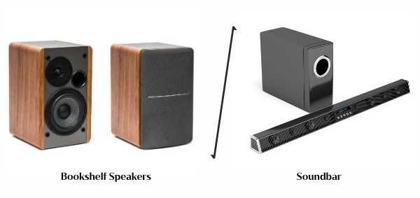 Bookshelf Speakers vs. Soundbars