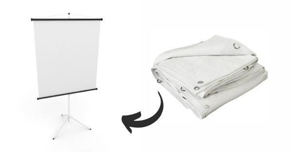Can I Use a White Tarp for a Projector Screen_