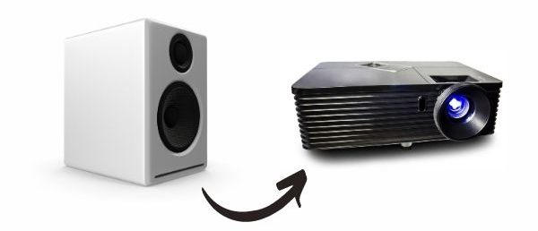 How To Get Sound From The Projector To Speakers_