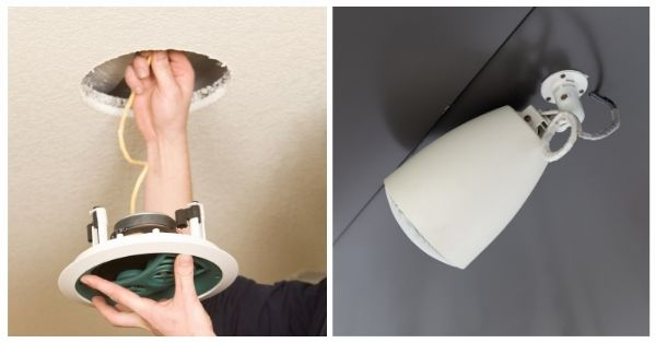 How To Install Ceiling Speakers With No Attic_