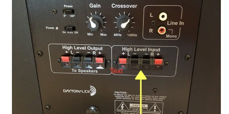 How to Connect a Subwoofer to Speaker Level Outputs