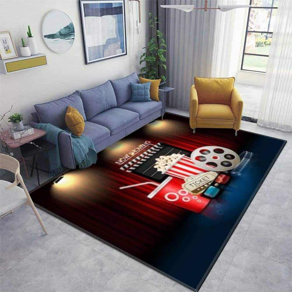 Theatre Object on Curtain area rug is shown in this file photo courtesy of Amazon.