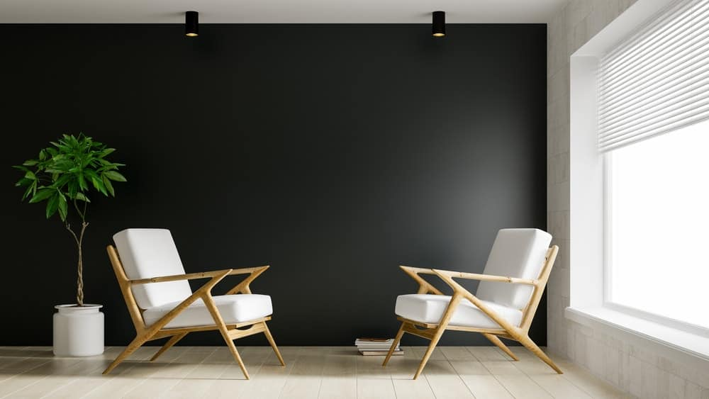black colored wall for home theater