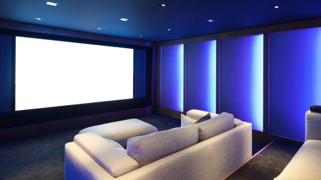 wall colors for your home theater with lighting