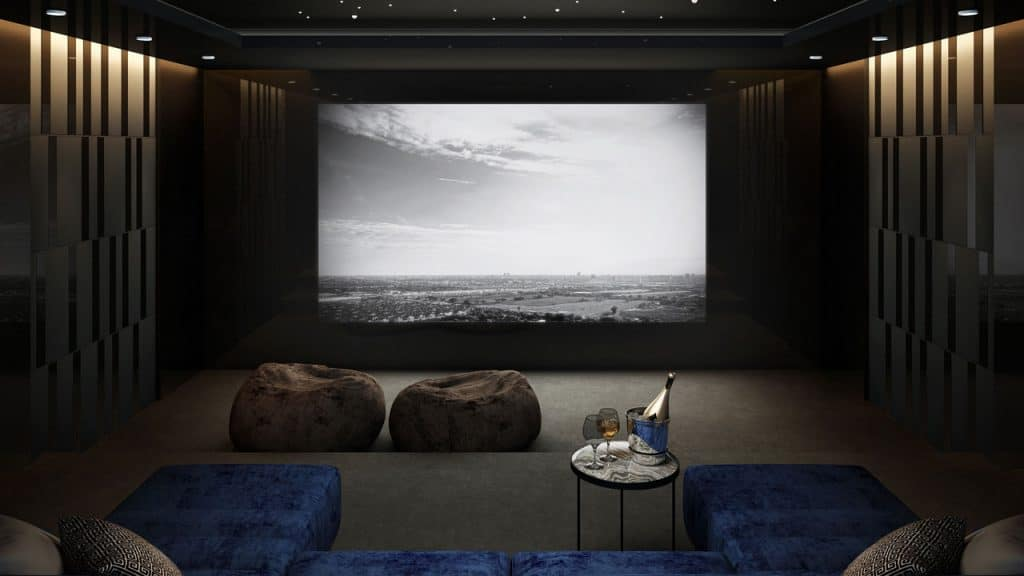wall colors for your home theater with trim and accents