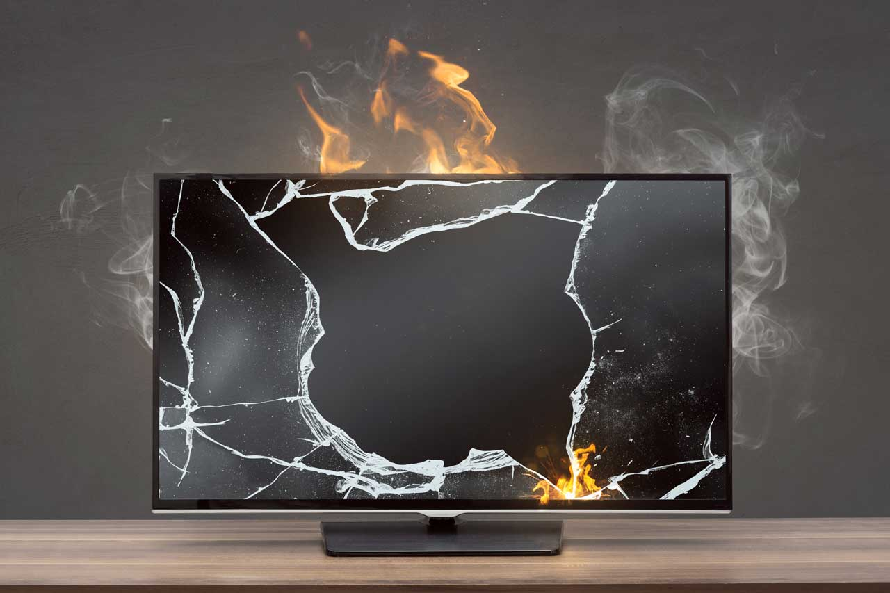 will speakers damage led tv parts